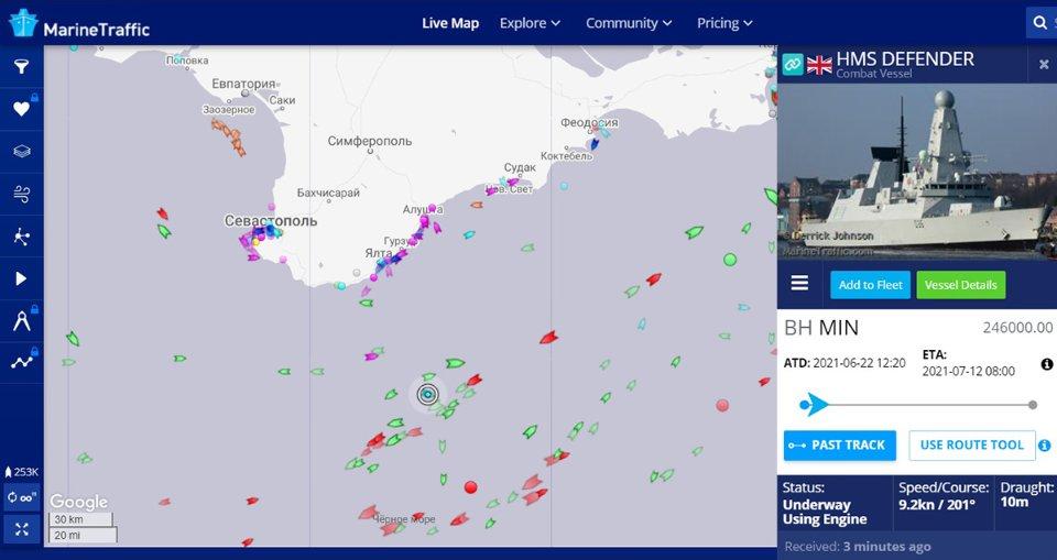 Військові кораблі НАТО, які ніби-то підійшли до берегів Крима