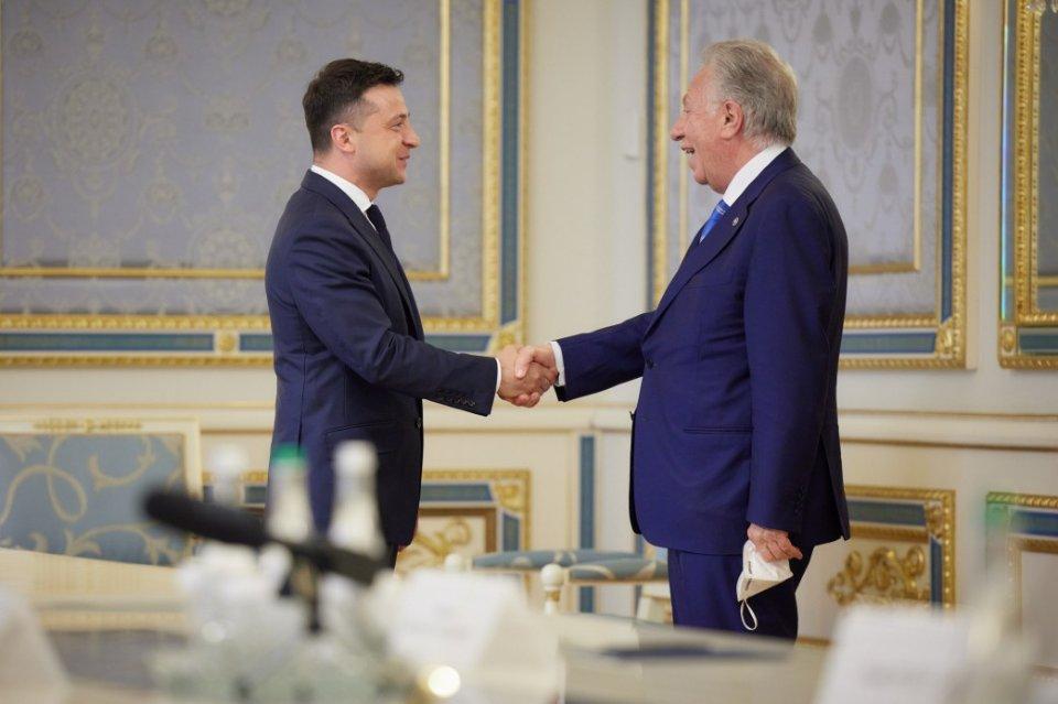 Володимир Зеленський та Джанні Букіккіо, голова Венеціанської комісії
