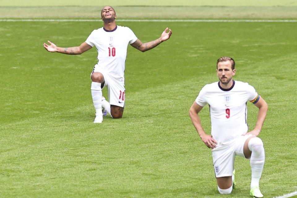 «Містер 120 млн» Харрі Кейн (№9) поки що на Євро-2020 забив всього один раз. Стерлінг (№10) — тричі / Getty Images
