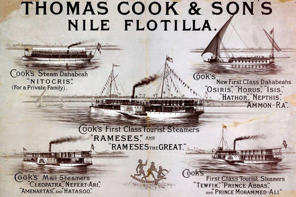 Флотилія, якою возили туристів Нилом