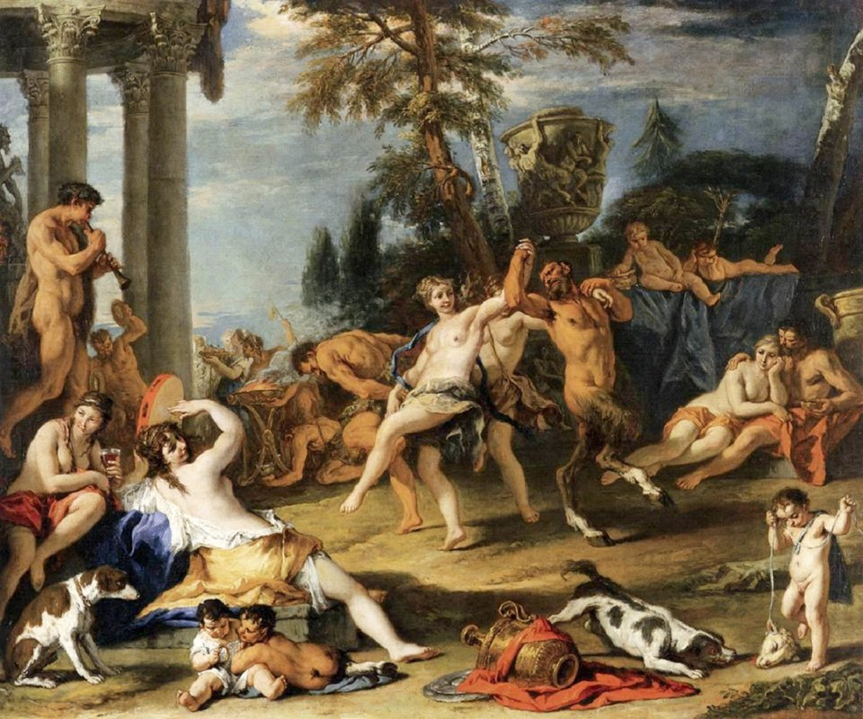Вакханалія у товаристві Пана. Річчі Себастьяно, 1715-1716. Галерея Академії, Венеція