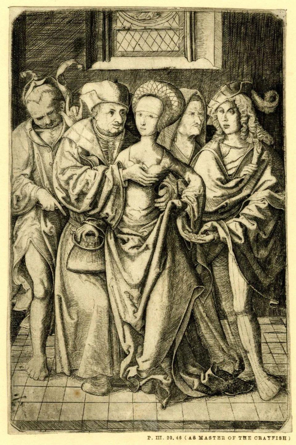 Гравюра, що демонструє життя середньовічних монахів