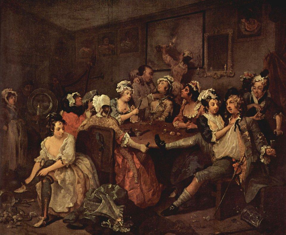Вільям Хогарт. Сцена в таверні. 1732
