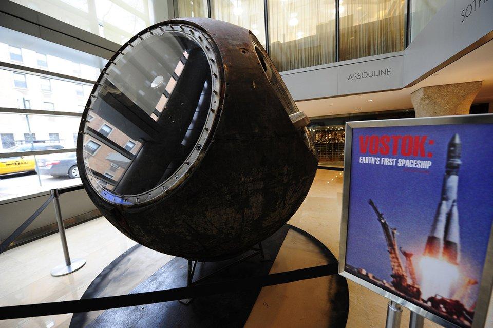 У 2011 році на аукціоні Sotheby's майже за $2,9 млн продали спусковий апарат космічного корабля «Восток»