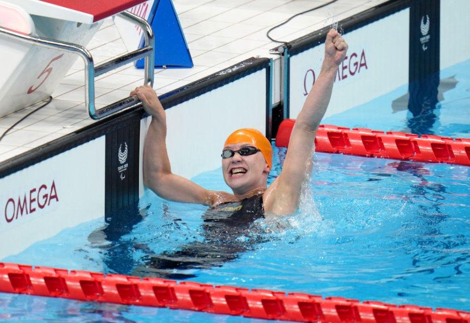 Єлизавета Мерешко здобула золоту медаль у запливі на 50 м вільним стилем, встановивши рекорд Паралімпіад / Getty Images