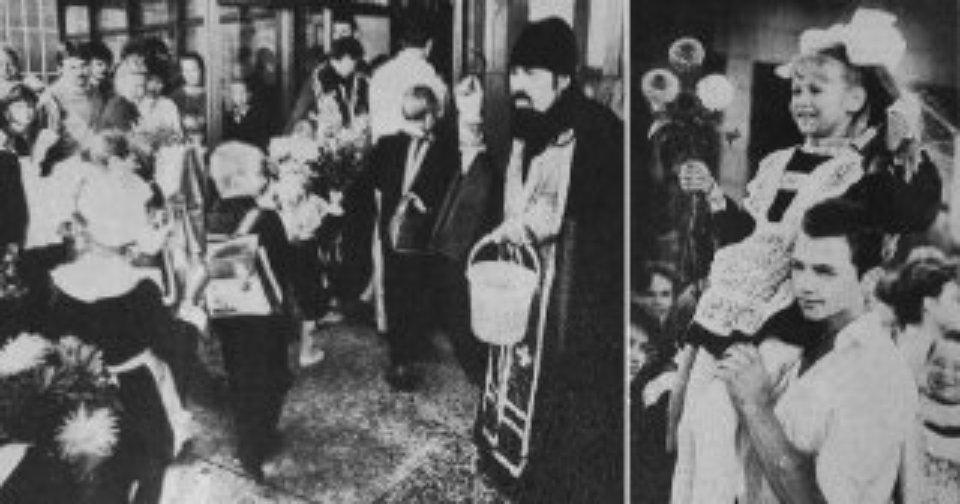 Первый звонок 1991 года в киевской школе №293 / газета «Вечерний Киев»