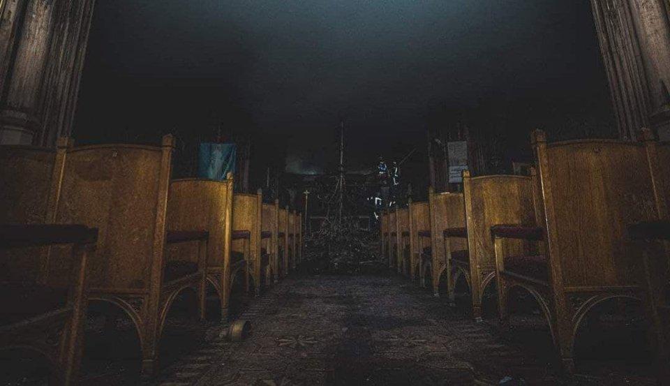 Костел Святого Миколая після пожежі