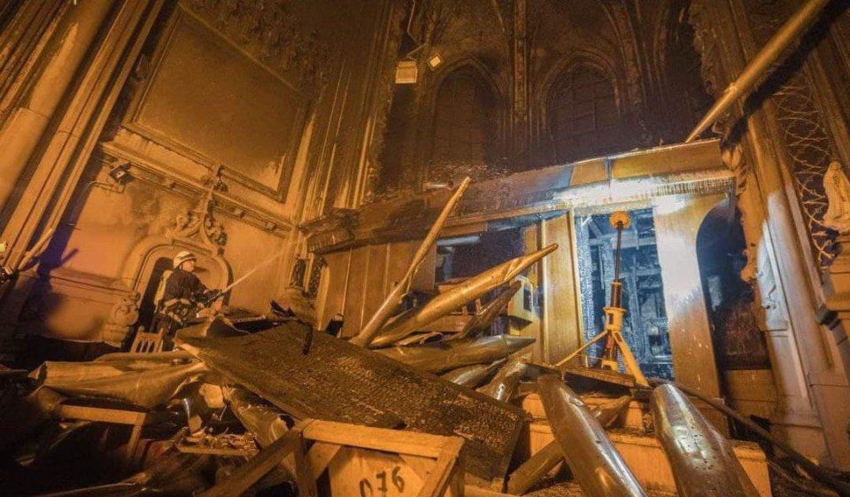 Орган в костелі Святого Миколая після пожежі