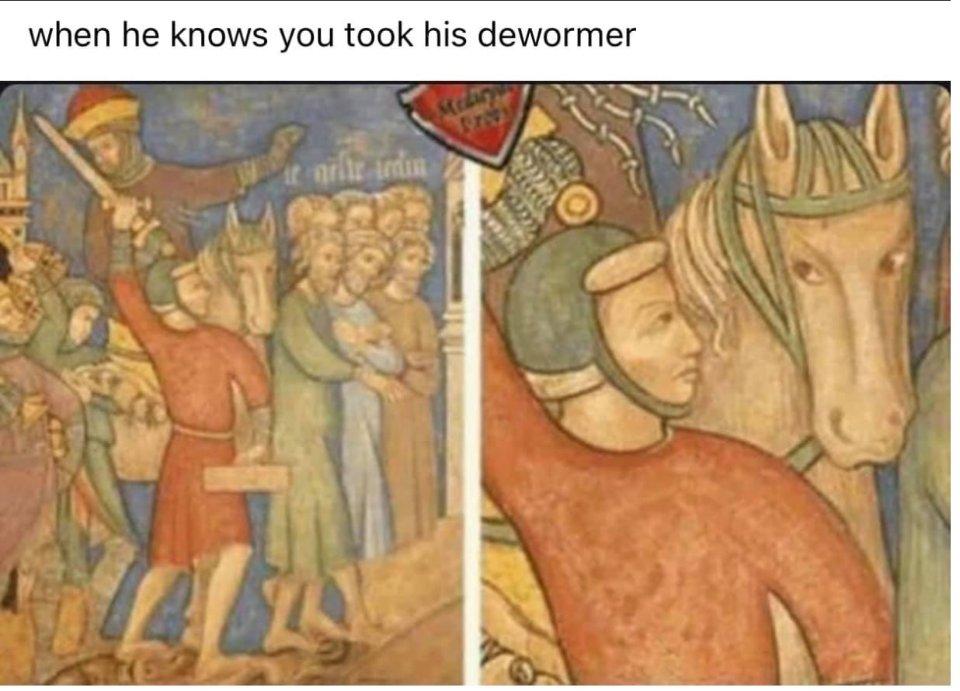 Коли він дізнався, що ти випив його глистогінне