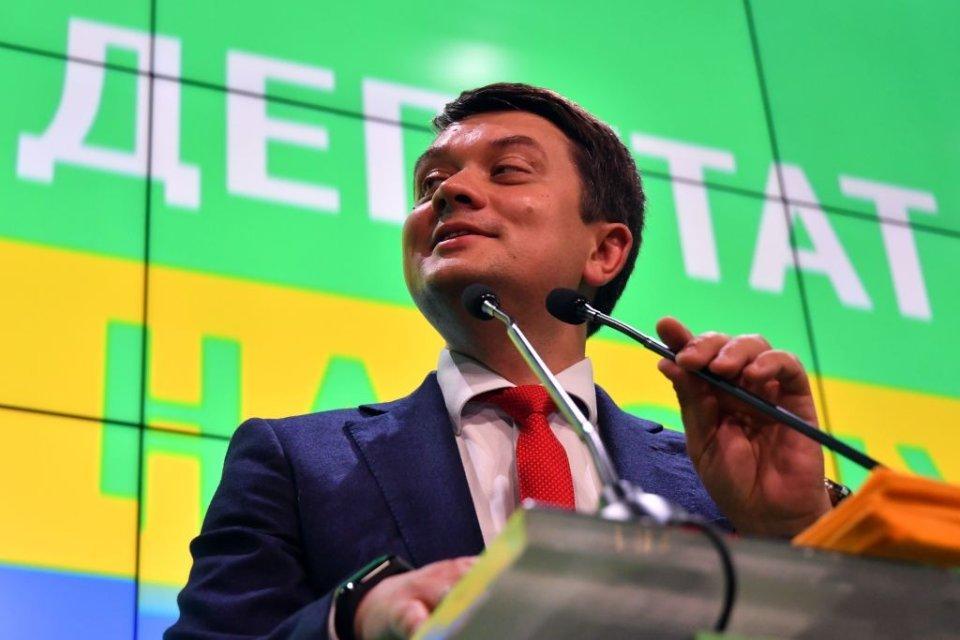 Дмитрий Разумков после победы Зеленского