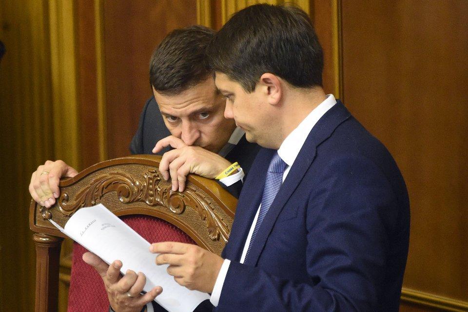 Володимир Зеленський та Дмитро Разумков