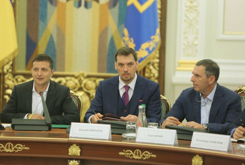 Сергій Шефір, Володимир Зеленський та Андрій Богдан