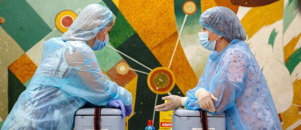 Пункт вакцинації в Ужгороді