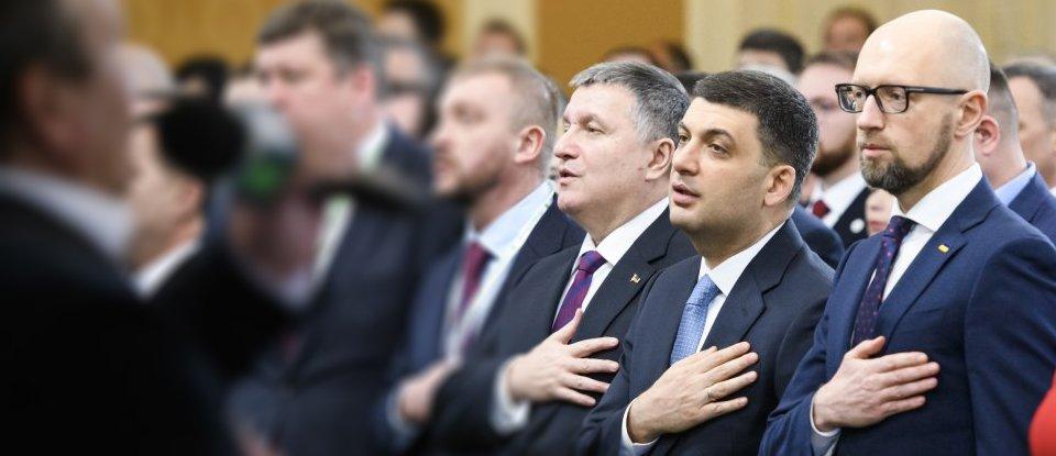 Володимир Гройсман, Арсеній Яценюк та Арсен Аваков