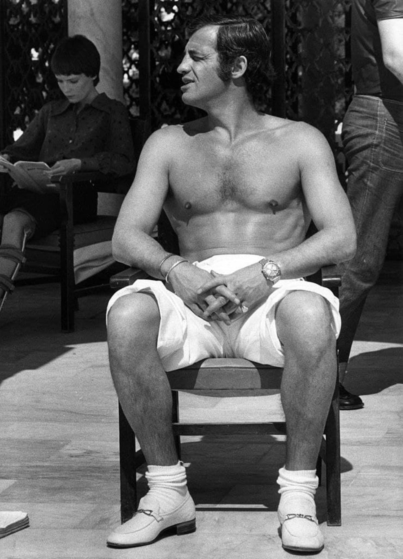 Жан-Поль Бельмондо на зйомках фільму «Доктор Пополь»