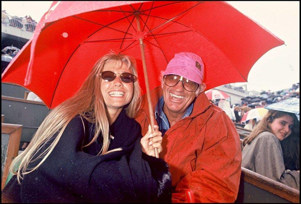 Жан-Поль Бельмондо з дружиною Натті Тардівель