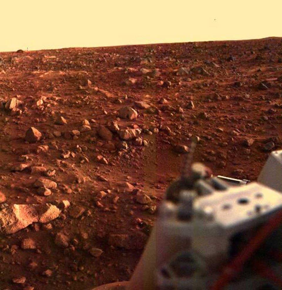 Захід Сонця біля місця посадки Viking 1