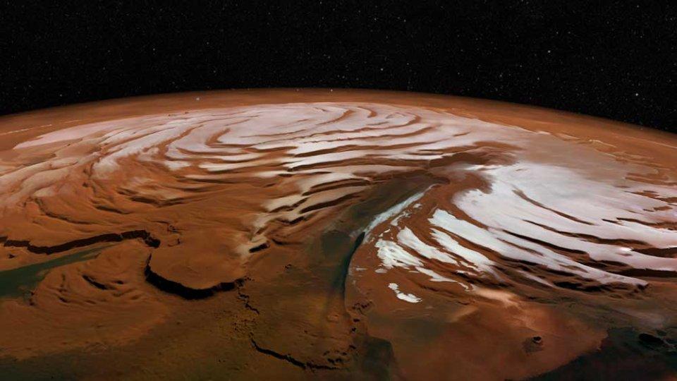 Chasma Boreale — великий каньон у північній полярній шапці Марсу