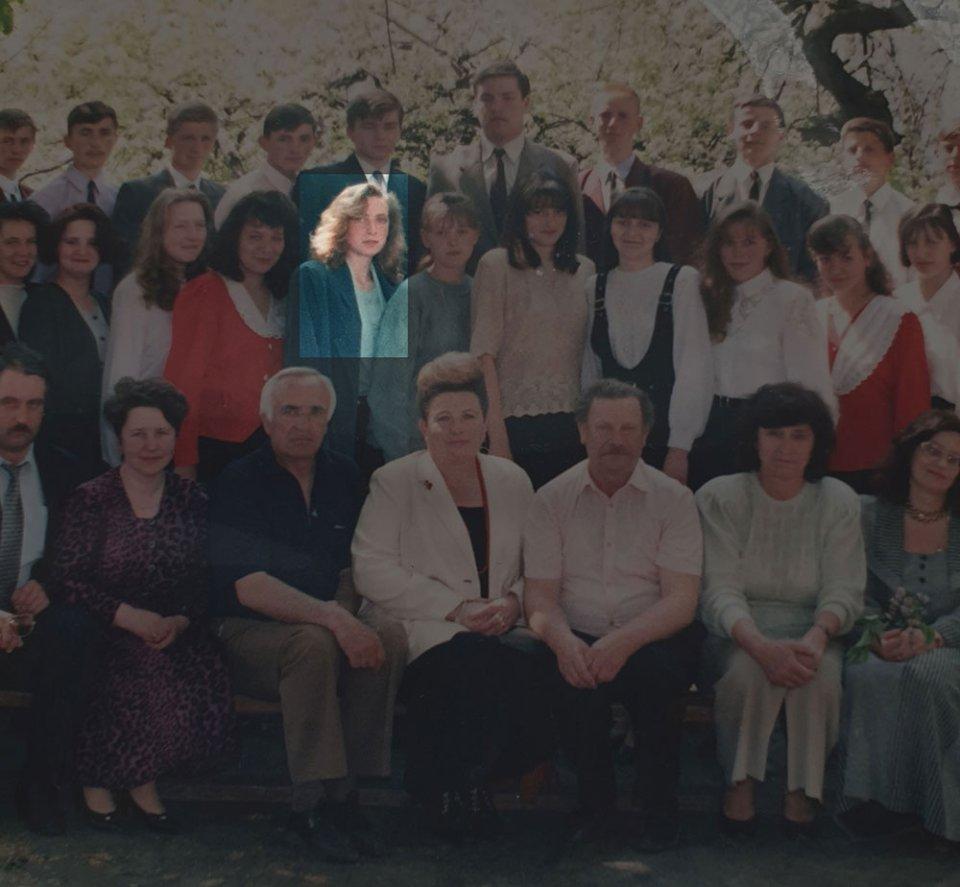 Шкільне фото Ірини Верещук з особистого архіву Ірини Саламахи