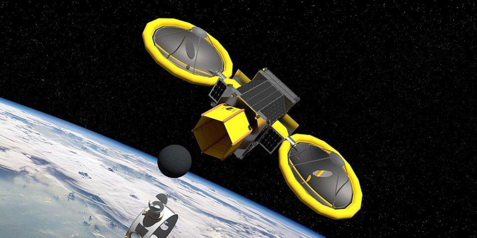 Концептуальний космічний апарат NASA для видобутку ресурсів на астероїдах Mini Bee