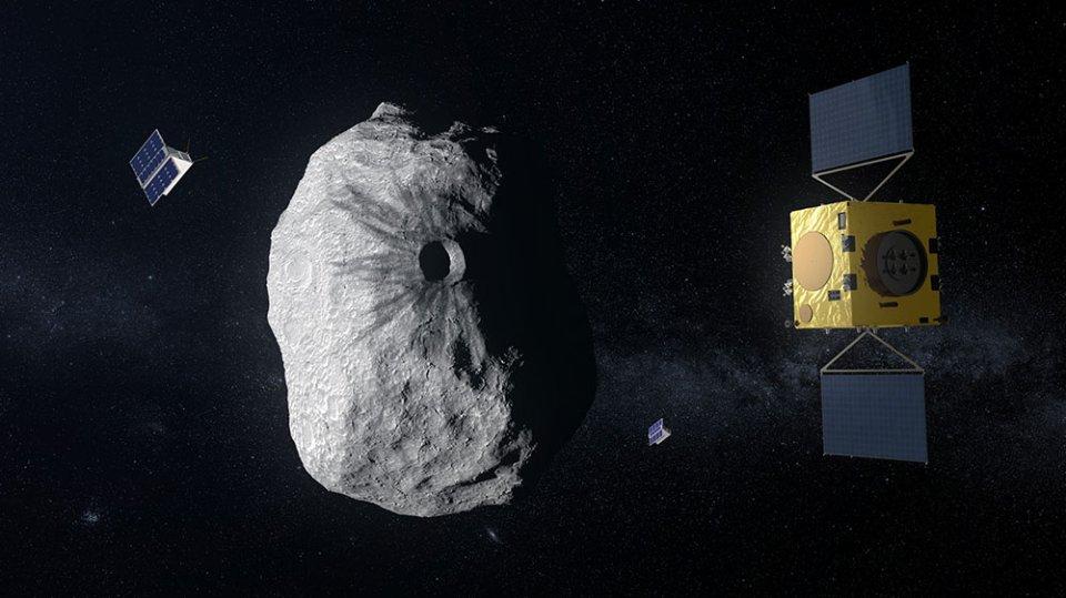 Зонд ESA досліджує астероїд  Дідімун після удару «тарану» NASA