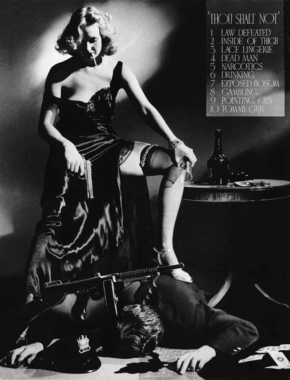 «Ти не повинен». Постер з такою назвою в 1941 році представив один із учасників конкурсу голлівудських фотографів. Він зображував 10 речей, заборонених Кодексом Хейса