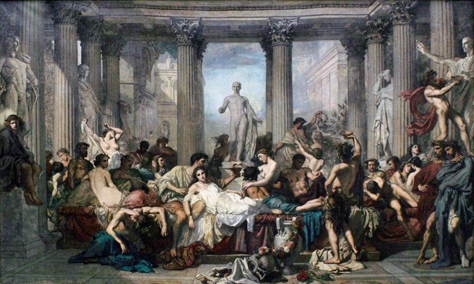 «Римляни епохи занепаду». Картина французького художника Тома Кутюра, 1847 рік