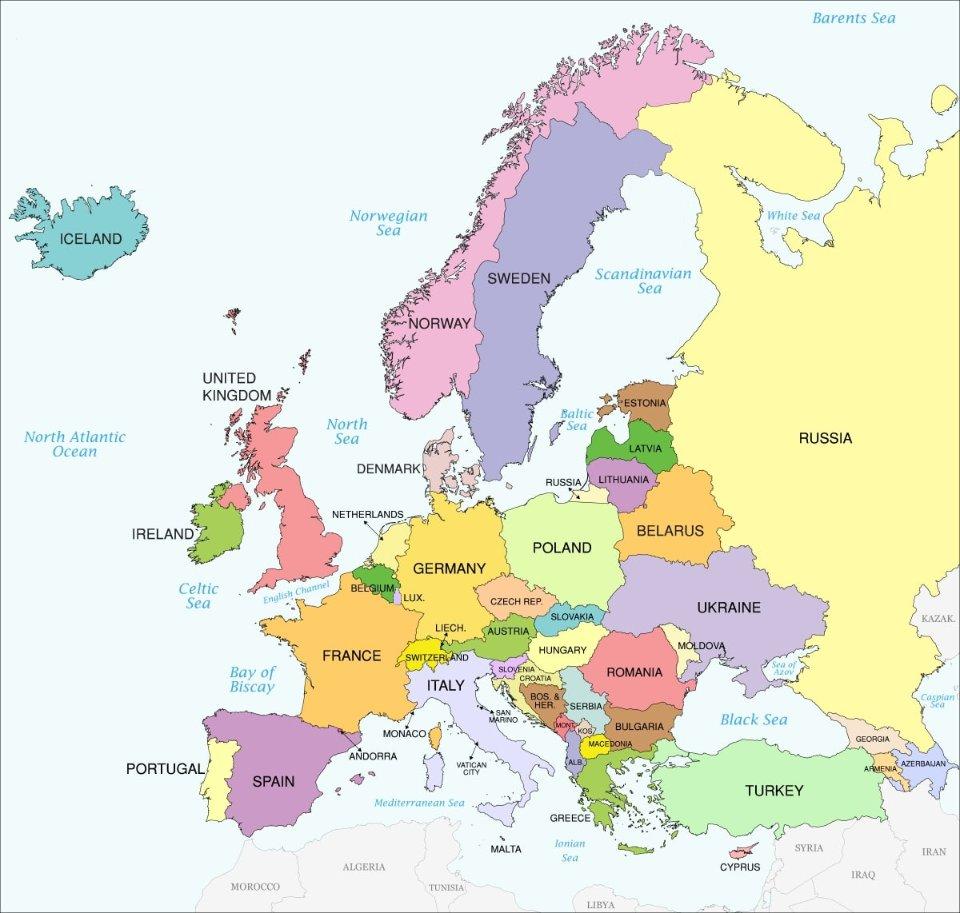 Так виглядає мапа Європи без Фінляндії / відкриті джерела