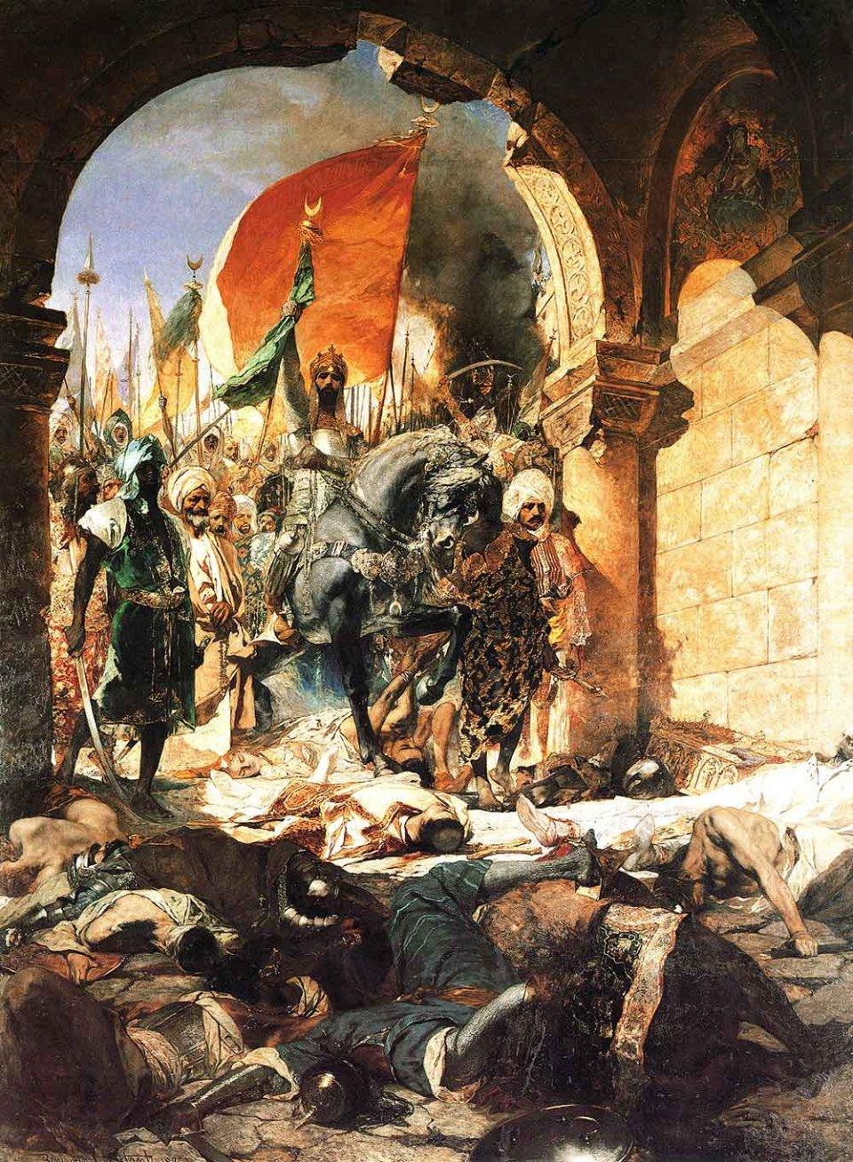 Після захоплення Константинополя Мехмед ІІ дозволив своїм військам три дні грабувати місто, а потім проголосив його своєю новою столицею / Картина Жан-Жозефа Бенжамен-Констана, 1876 рік