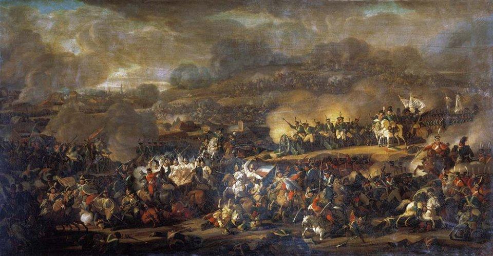Під Лейпцигом зійшлися близько півмільйона солдатів. Це була наймасштабніша битва в світовій історії до початку Першої Світової / Картина Володимира Мошкова, 1815 рік
