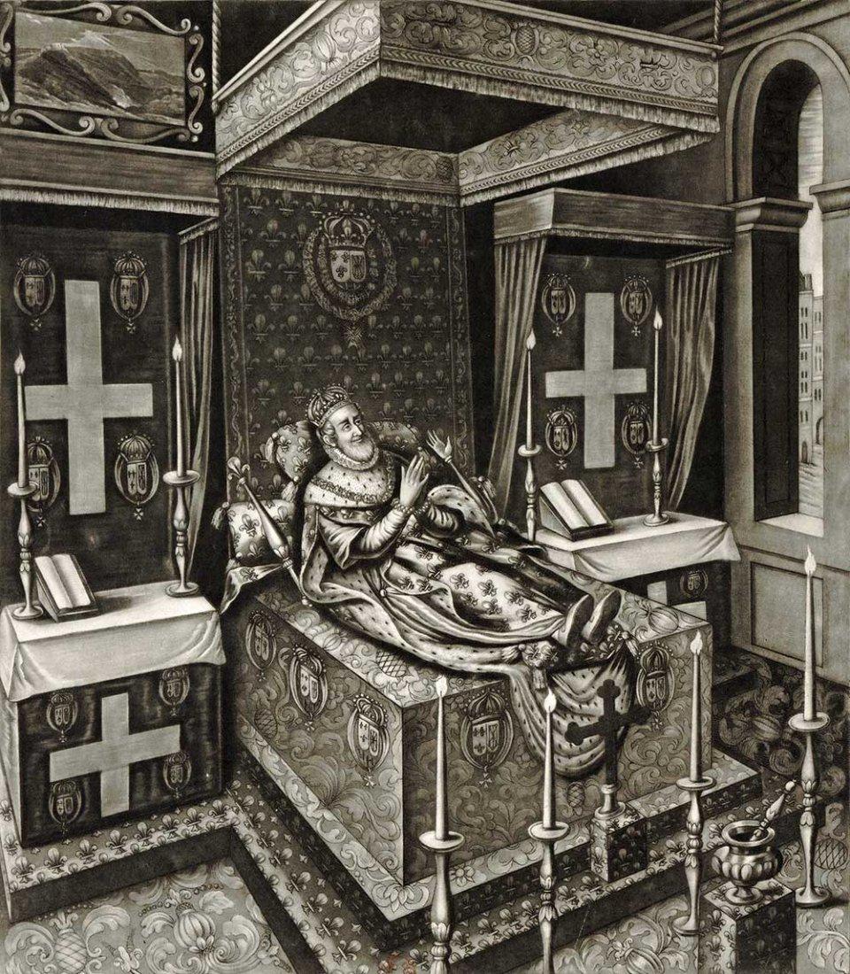 Генріх ІV в королівському палаці після вбивства. Гравюра ХVII століття